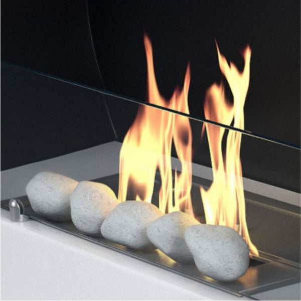 Bioethanol Fuel Bed - Black / White Pebbles - The Stove House Midhurst Nr Chichester West Sussex