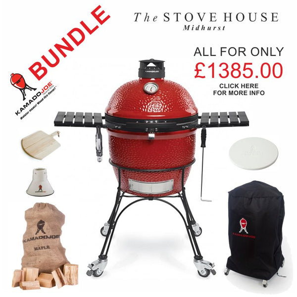 Bundle - Kamado Joe Classic II Outdoor Ceramic Grill & Smoker with Accessories - The Stove House Midhurst Nr Chichester West Sussex