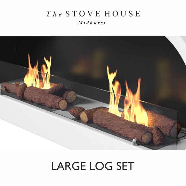 Bioethanol Log Set - Small & Large Bed - The Stove House Midhurst Nr Chichester West Sussex