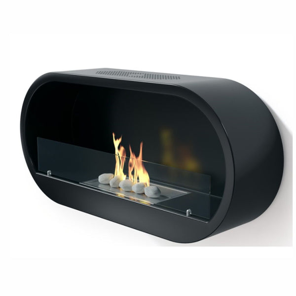 Marlow Bioethanol Gloss Black Contemporary Fire - The Stove House Midhurst Nr Chichester West Sussex