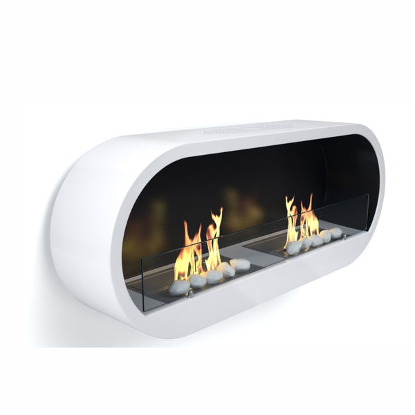 Marlow White Twin Bioethanol Contemporary Fire - The Stove House Midhurst Nr Chichester West Sussex