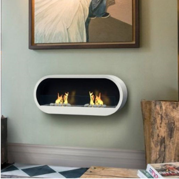 Marlow Bioethanol White Contemporary Fire - The Stove House Midhurst Nr Chichester West Sussex