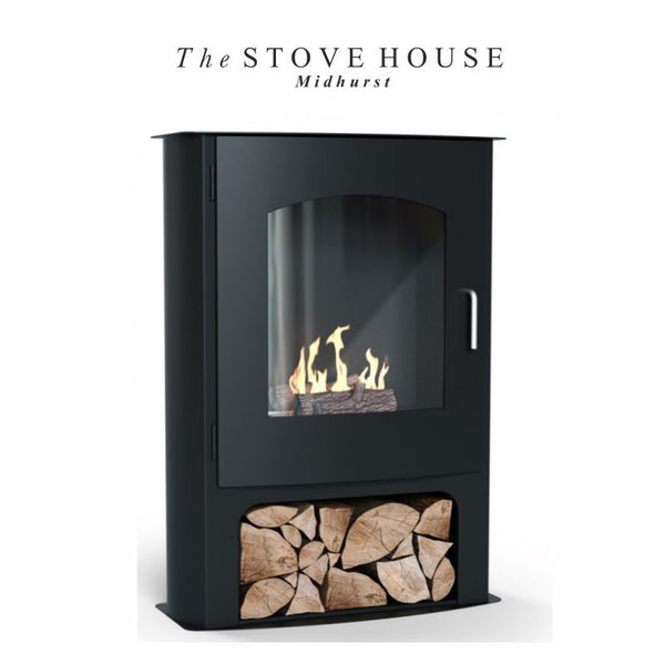 Pembrey Bioethanol Stove with Logs & Fuel Offer - The Stove House Midhurst Nr Chichester West Sussex