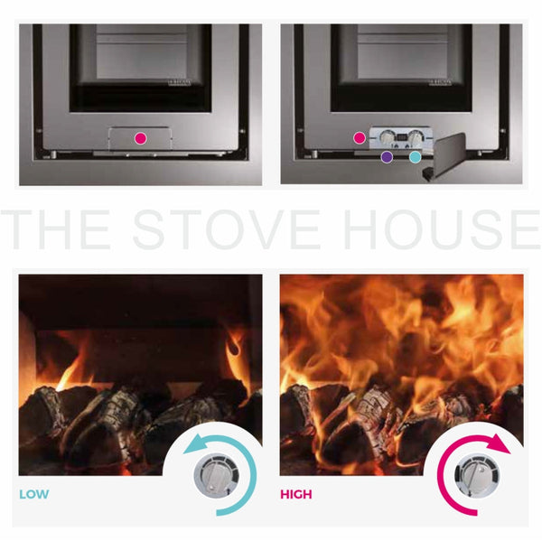 Di Lusso R4 Cube: Quattro Stove - The Stove House Midhurst Nr Chichester West Sussex
