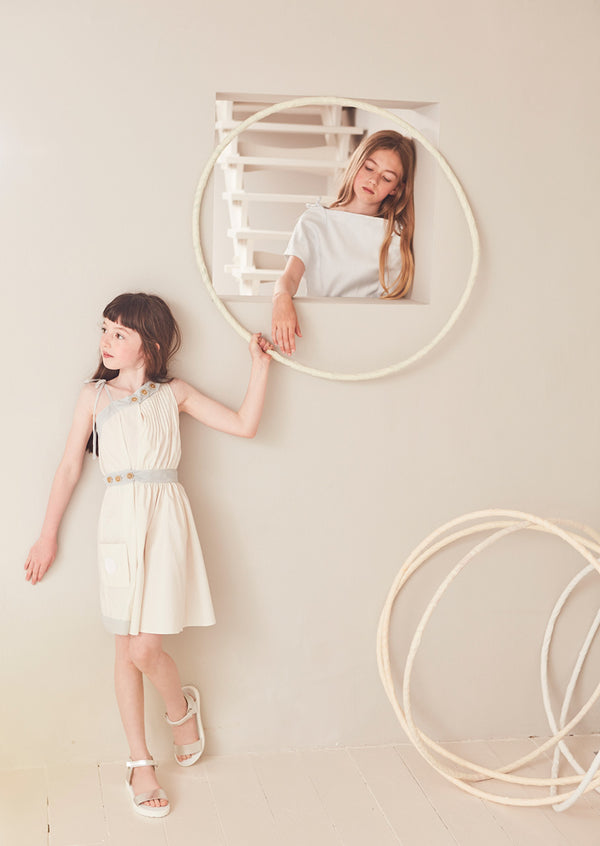 Owa Yurika Girls Summer Party Dress Cream