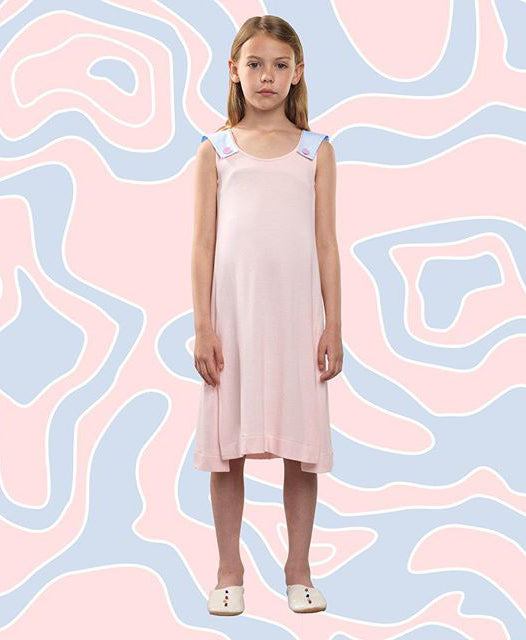 Owa Yurika Omaira Girls Summer Dress Pink