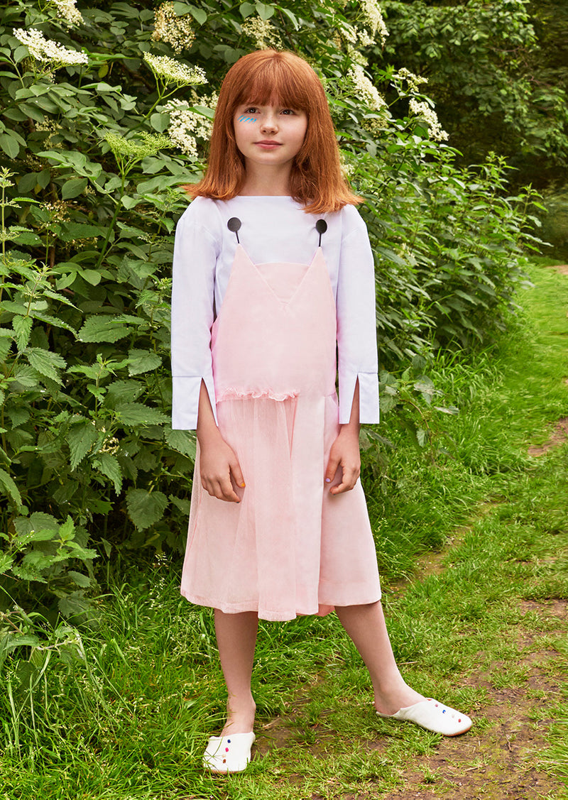 Owa Yurika Margot Girls Spring Summer Dress Pink