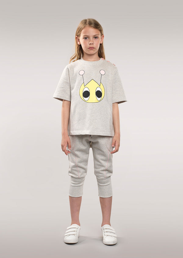 Owa Yurika Daisy Grey Girls Sweatshirt