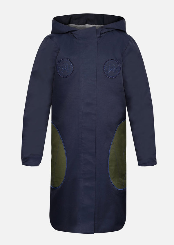 Arabella Navy Raincoat