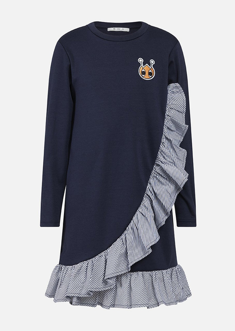 Owa Yurika Katya Girls Dress Navy