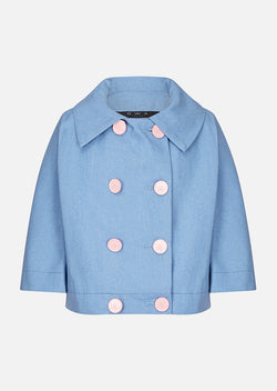 Owa Yurika Florence Girls Blue Spring Summer Jacket
