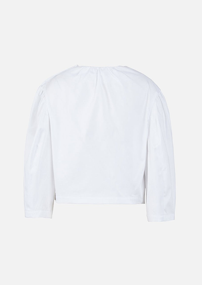 Owa Yurika Victoria Long-sleeved Top White
