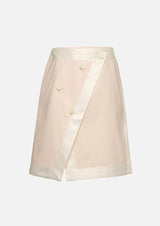 Owa Yurika Girls Denim Skirt Pink