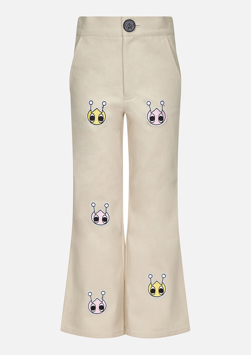 Owa Yurika Hina Girls Spring Summer Trouser Cream