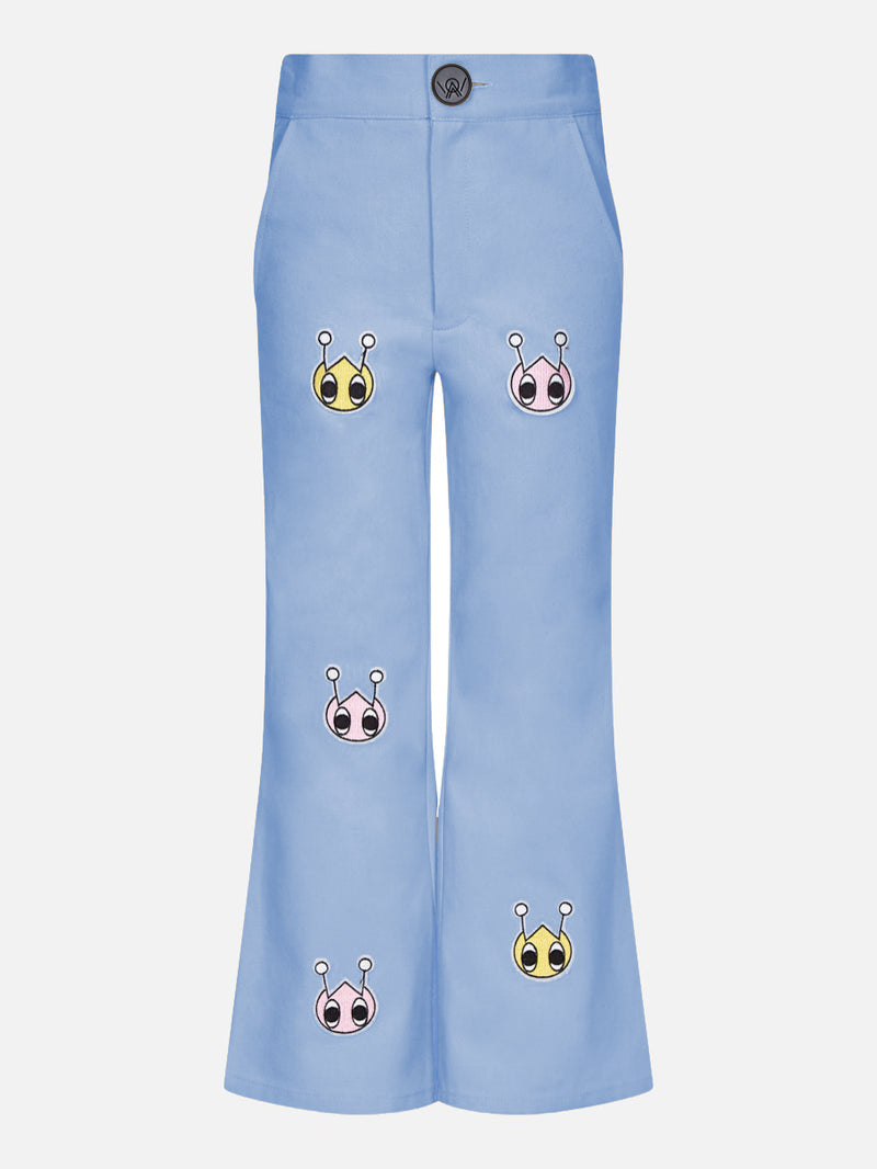 Owa Yurika Hina Girls Spring Summer Trouser Blue