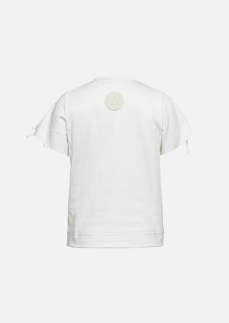 Owa Yurika Girls Children Yousra Cotton T-shirt White