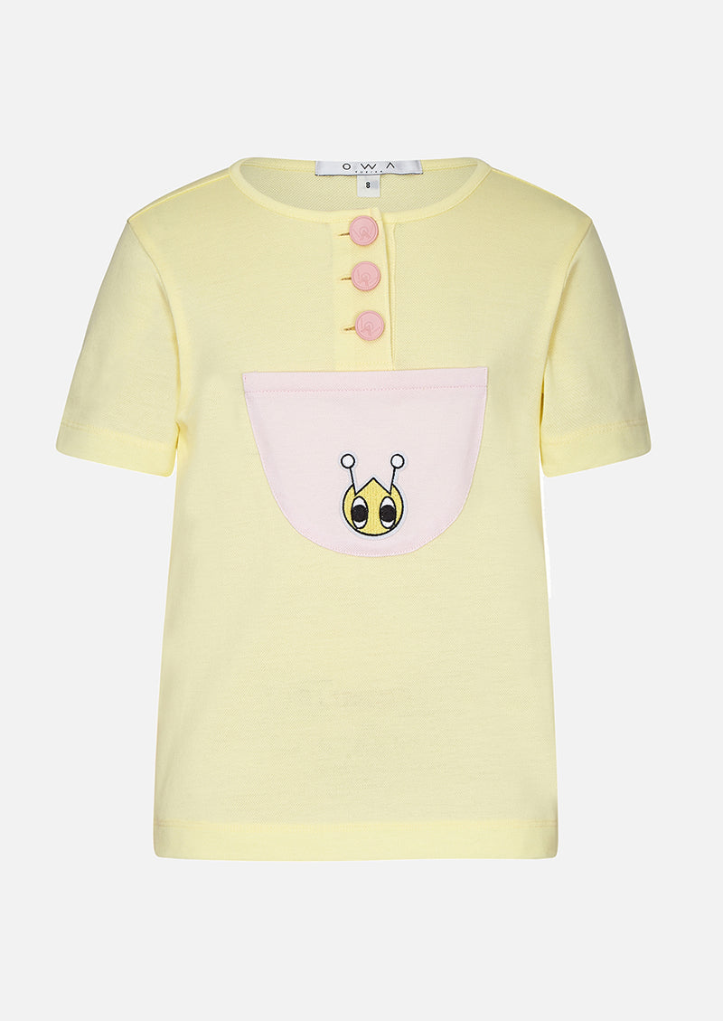 Owa Yurika Valentina Girls Spring Summer T-shirt Yellow