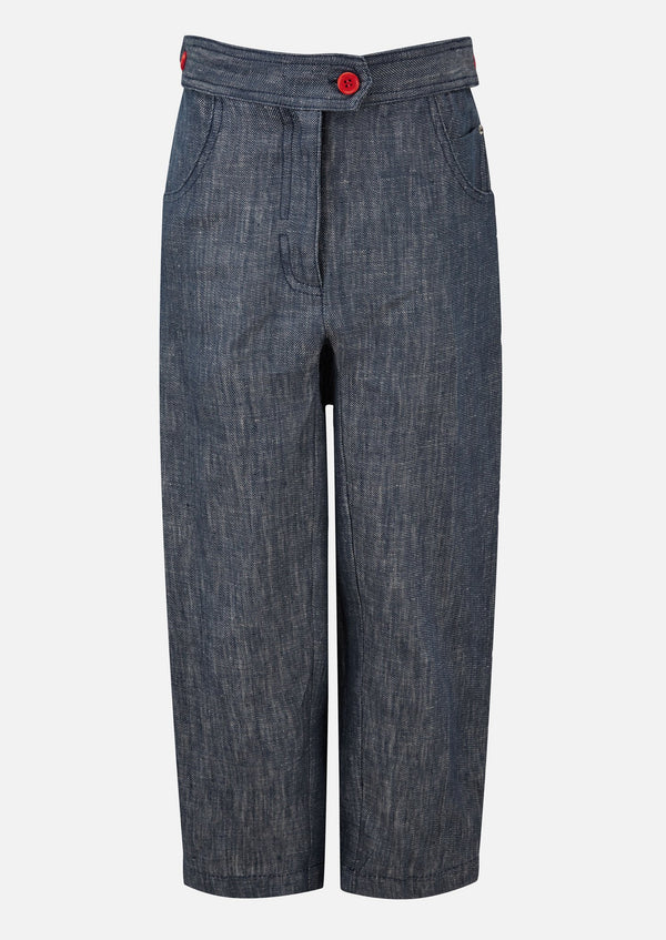 Owa Yurika Elle Denim Trouser Blue