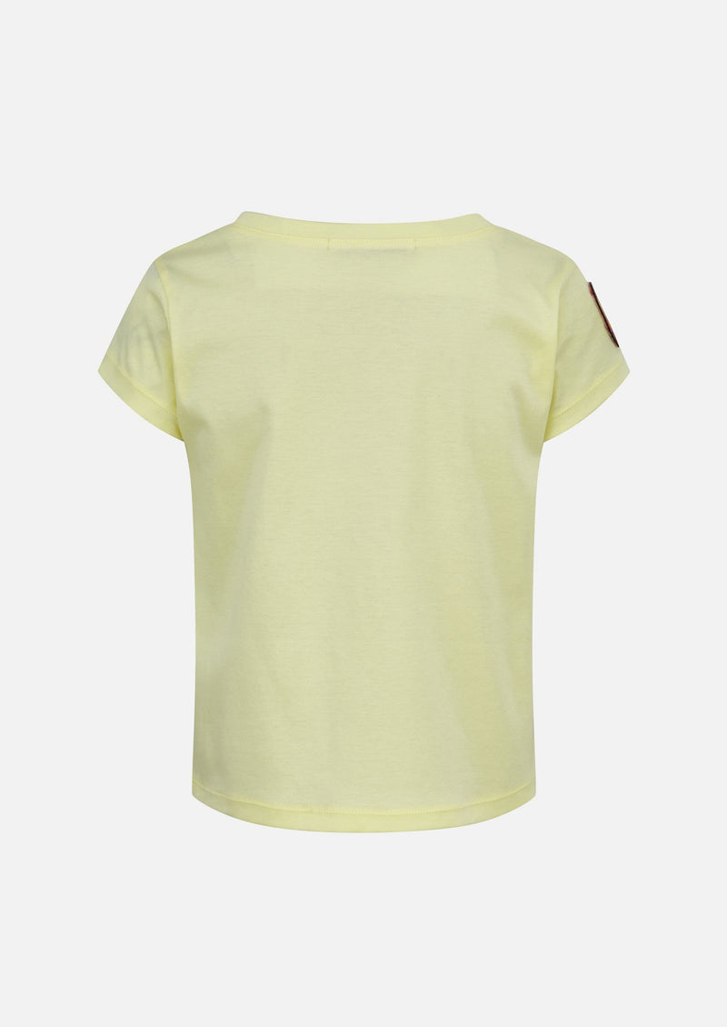 Owa Yurika Katone Cotton Yellow T-shirt