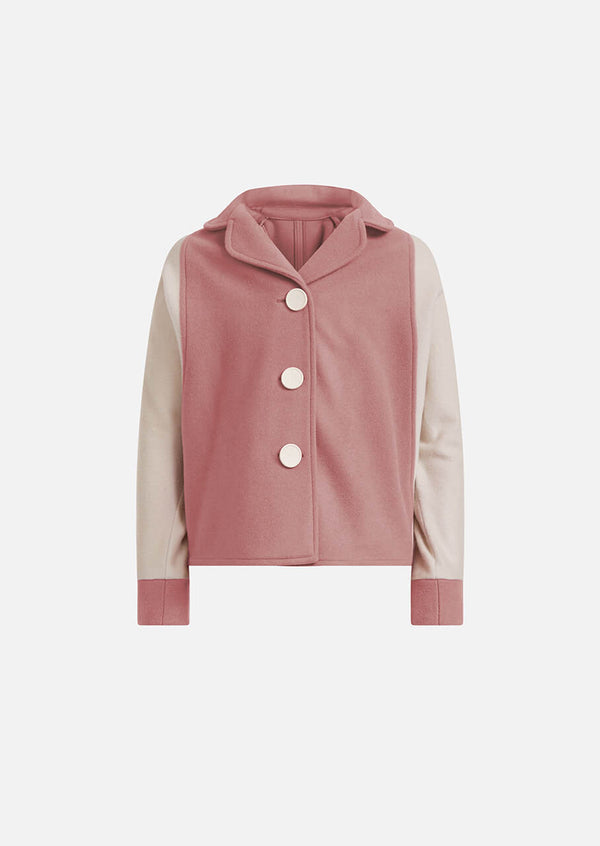 Owa Yurika Cara girls pink wool jacket