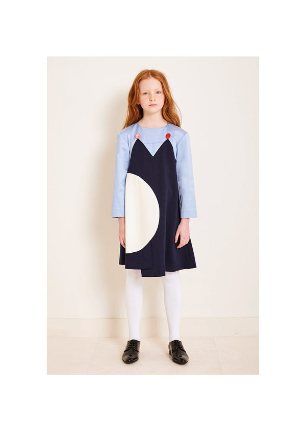 Owa Yurika Georgie Girls Dress Navy