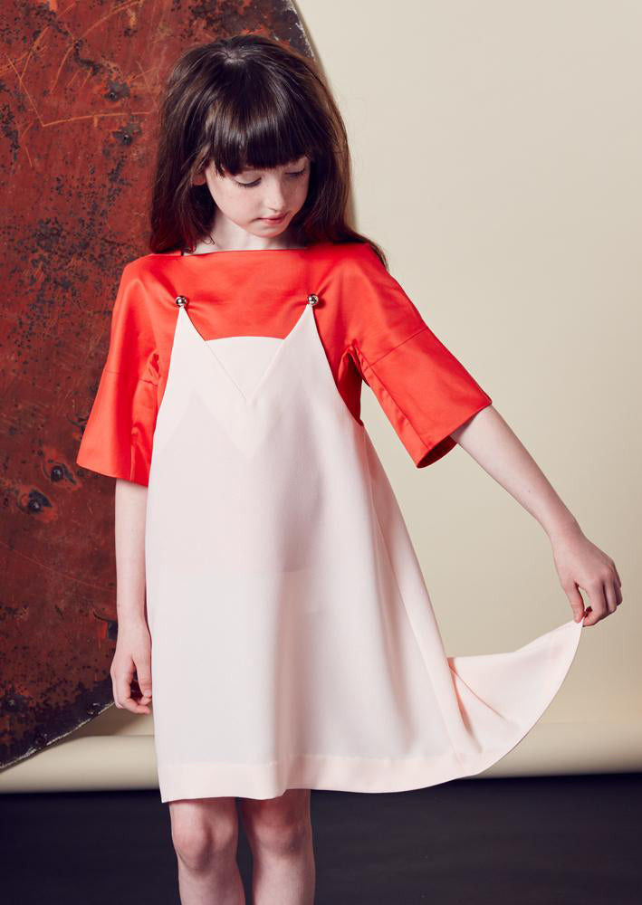 Owa Yurika Yuka Luxury Crepe Dress Blush