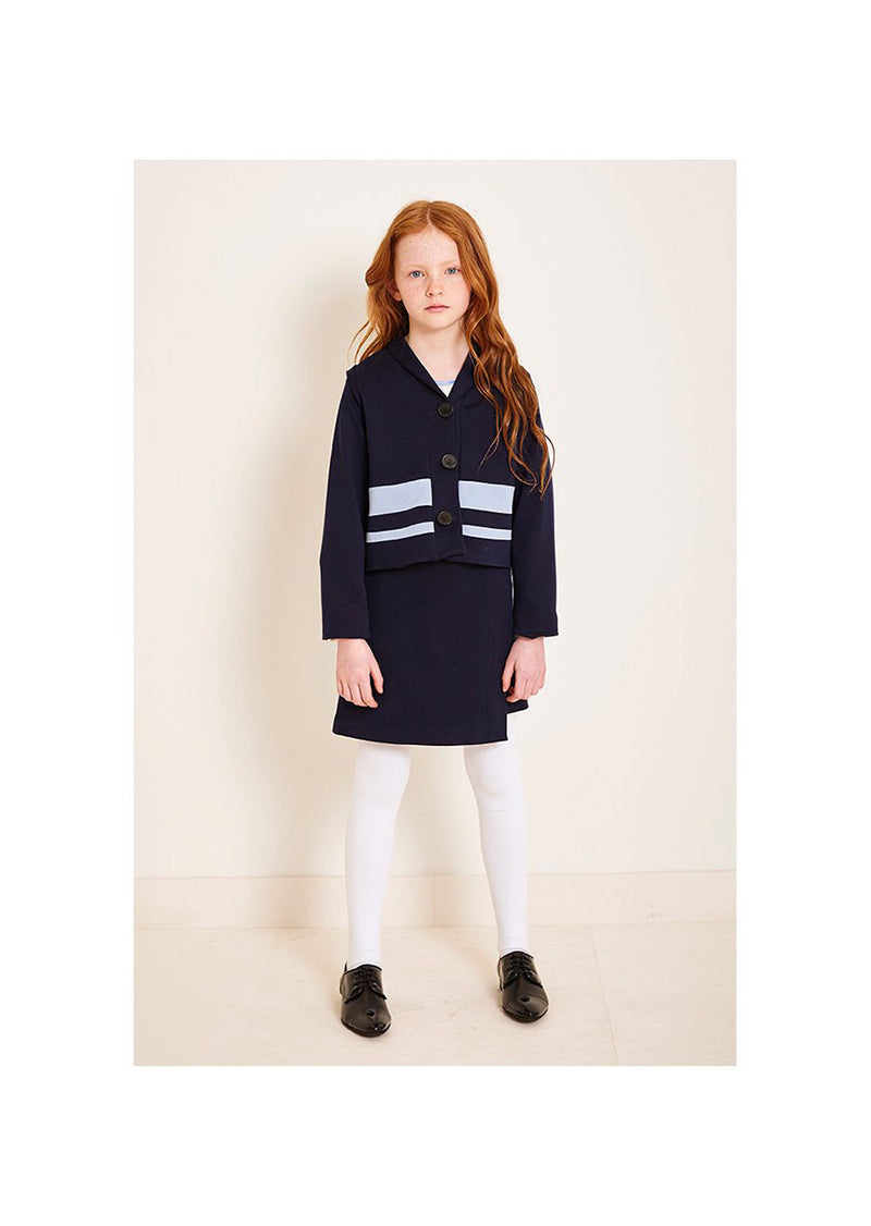 Owa Yurika Fang Girls Navy Jacket