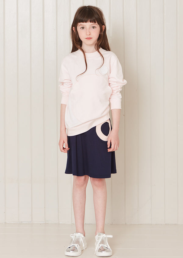 Owa Yurika Sophie Girls Navy Skirt