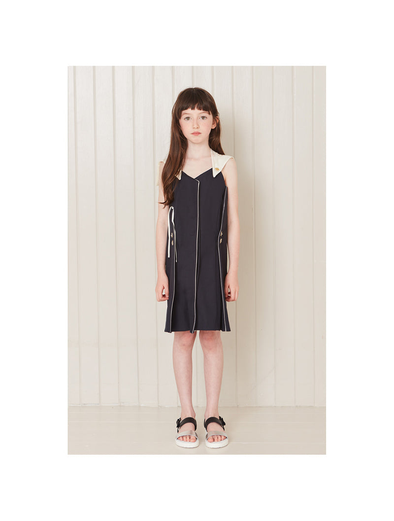 Owa Yurika Umi Girls Summer Navy Dress