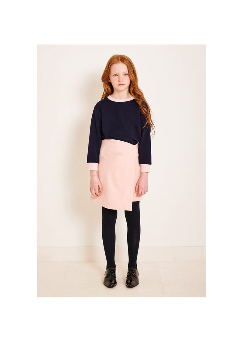 Owa Yurika Nadia Girls Navy Top