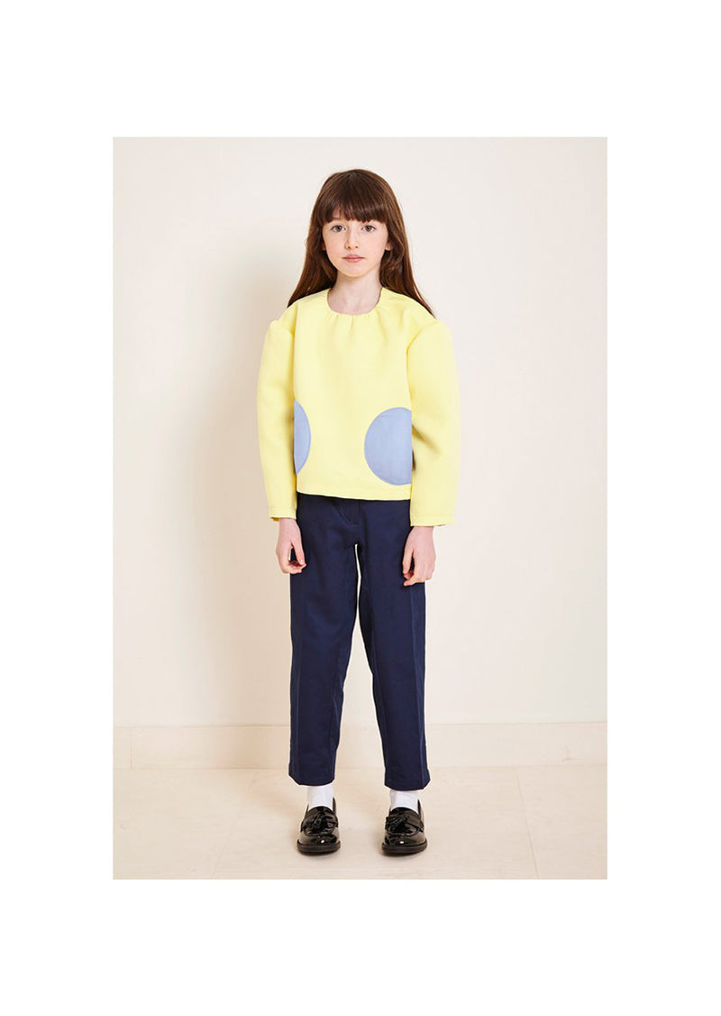 Owa Yurika Lihua Girls Top Yellow