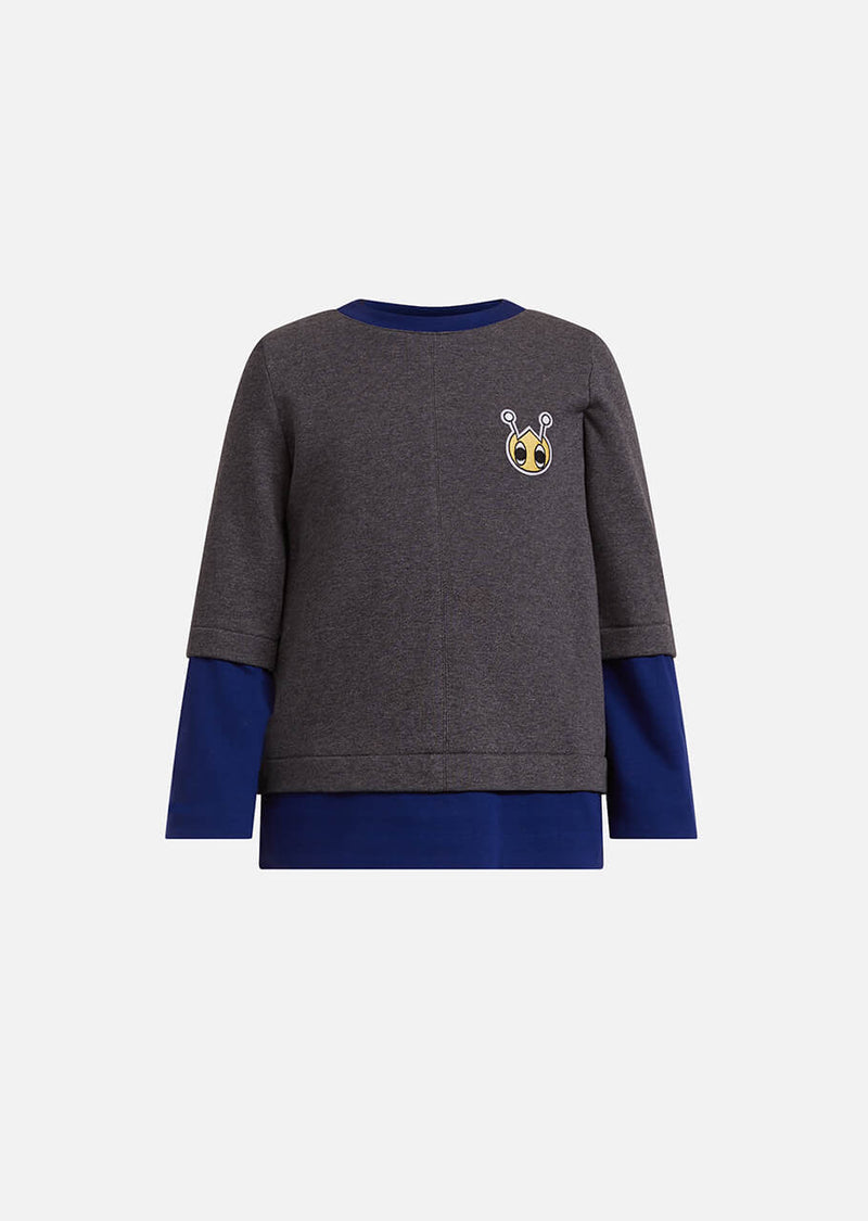 Owa Yurika Lola girls grey sweatshirt