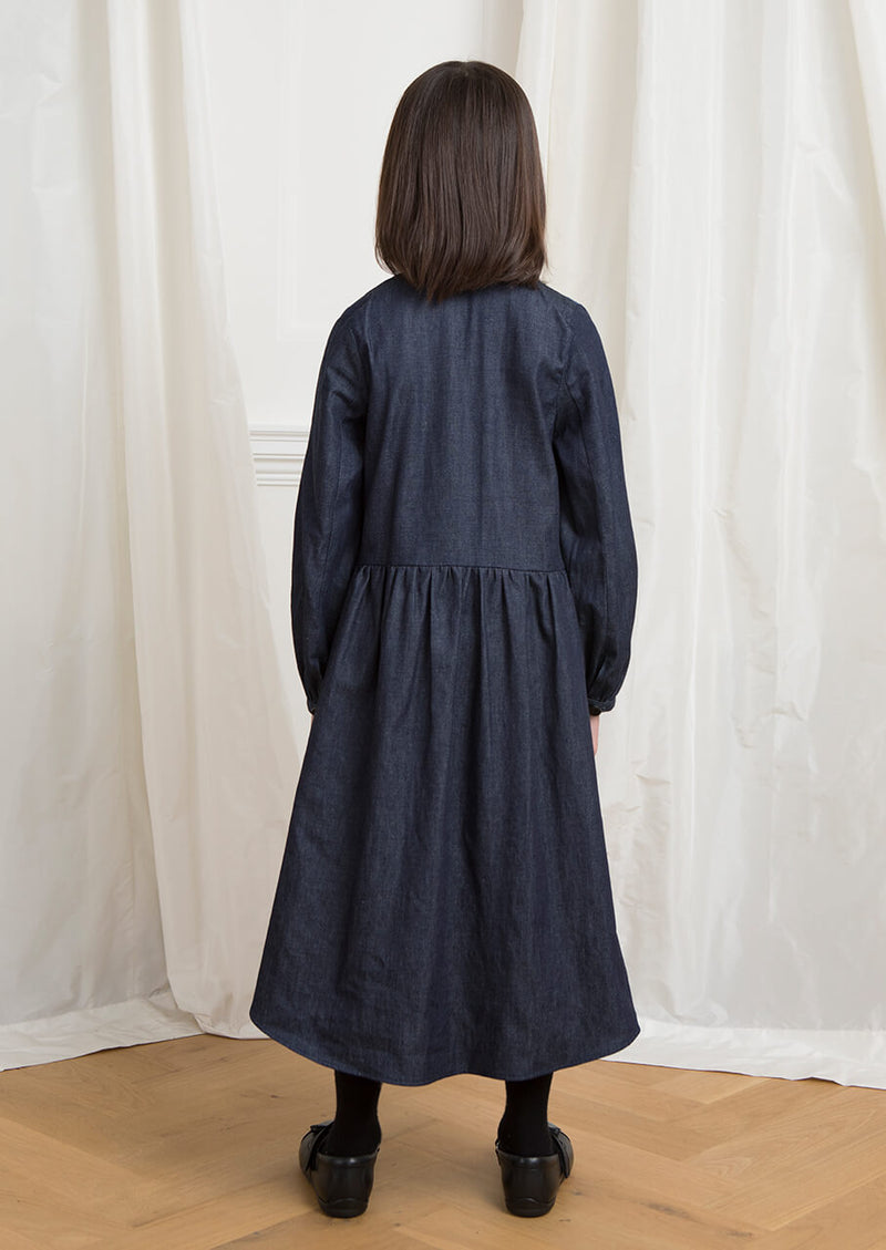 Owa Yurika Imy girls navy denim dress