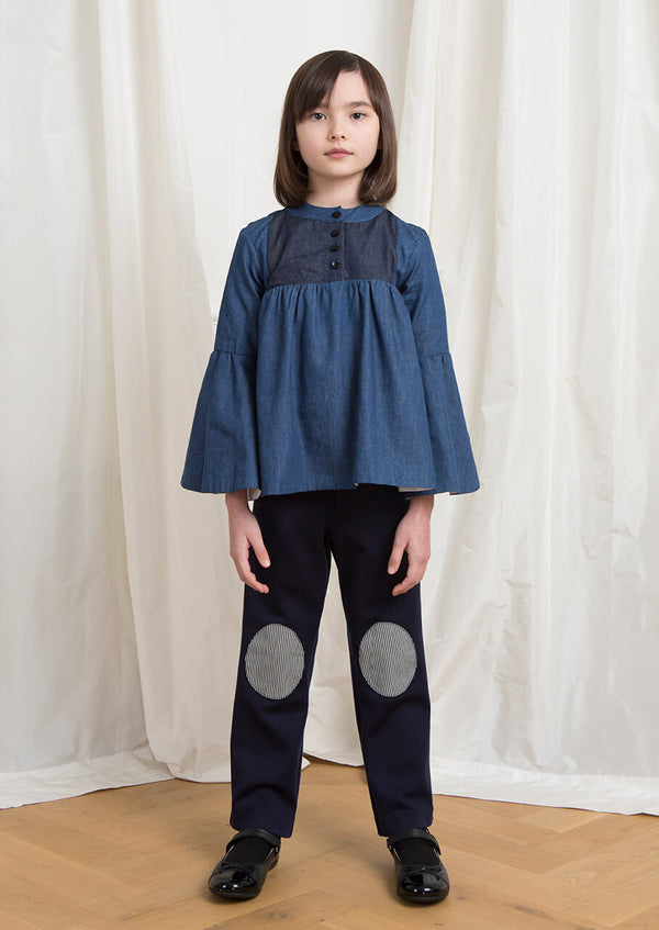 Owa Yurika Flo girls denim blue top