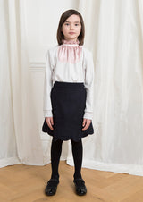 Owa Yurika Michiko wool navy skirt Japanese made