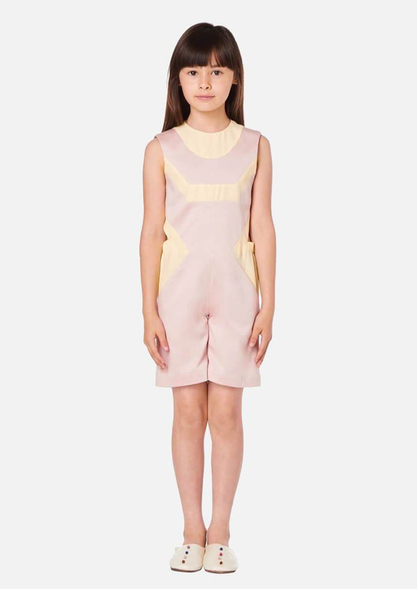 Girls Summer Pink Sleeveless Jumpsuit Japanese Children Clothing Owa Yurika