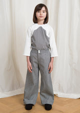 Owa Yurika Girls navy denim striped trouser