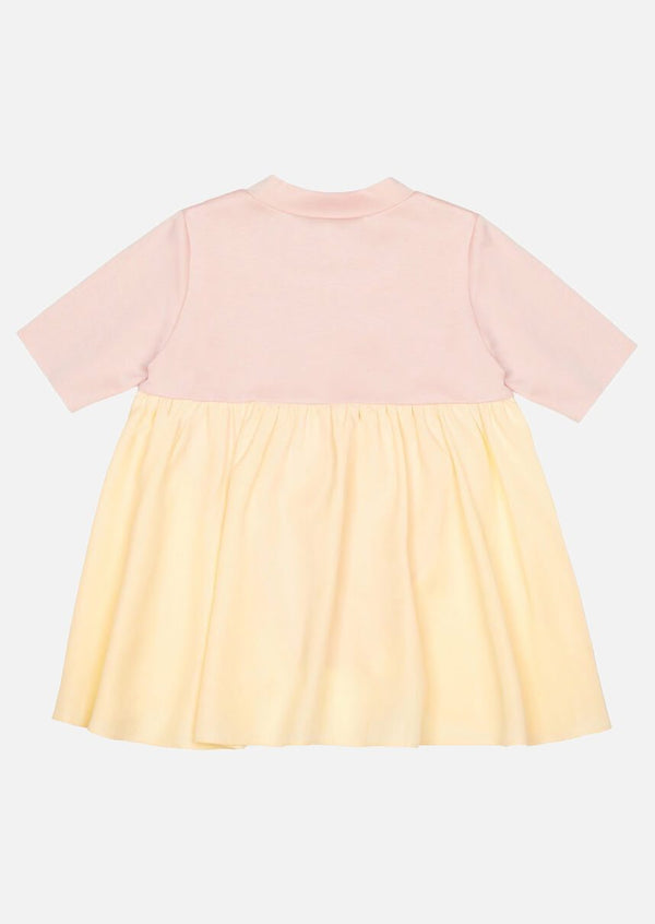 Girls yellow side and back frill pink short sleeve T-shirt Children Tops Owa Yurika Japanese Luxury Brand