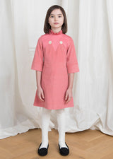 Owa Yurika Lily girls pink corduroy dress Made in Japan