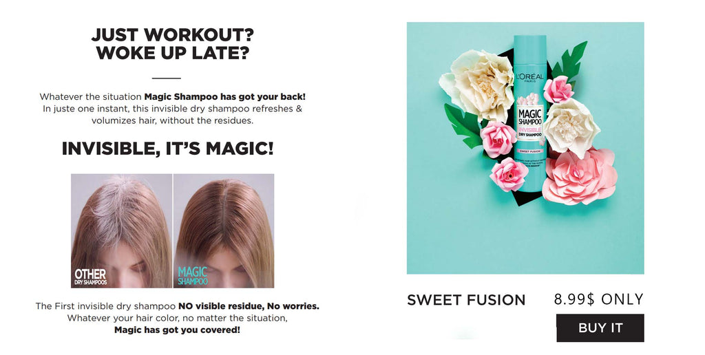 Magic Dry Shampoo Shop on Feel22