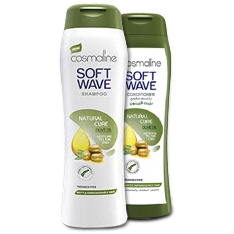 Cosmaline Soft Wave Olive Oil Natural Cure Shampoo & Conditioner 400ml