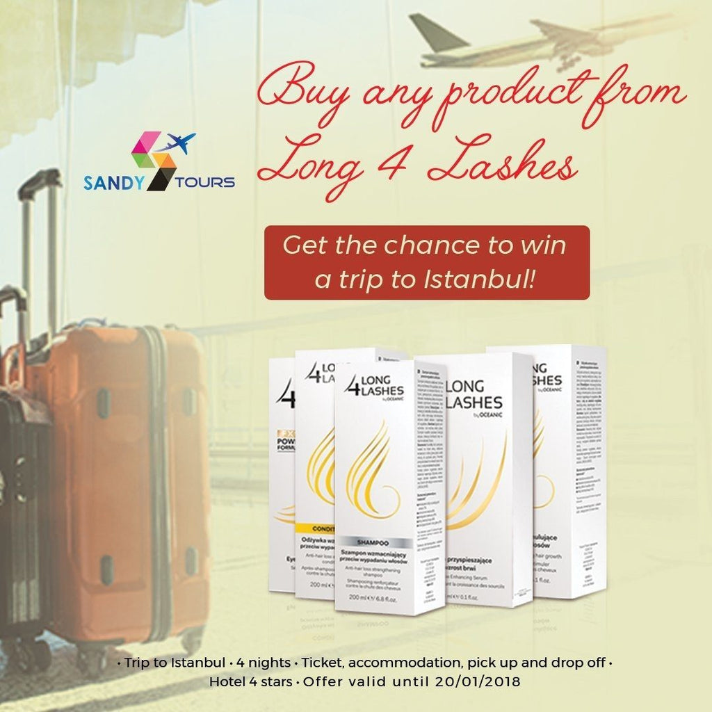 Buy any Long-4-Lashes Product & get the chance to win a trip to Istanbul!