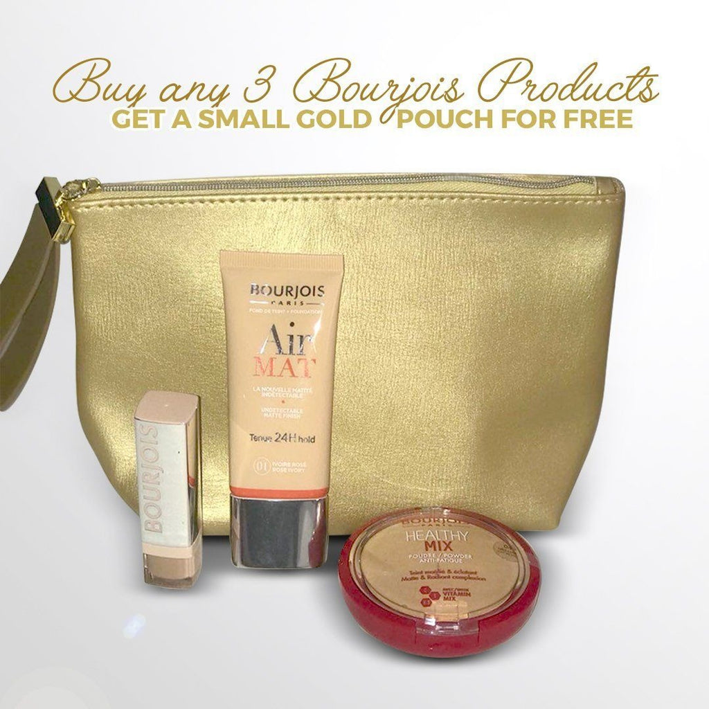 Bourjois Small Gold Pouch - Gift with 2 Products -  NOT FOR SALE