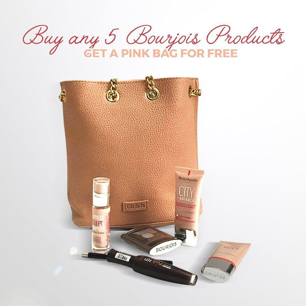 Bourjois Pink Bag - Gift with 4 Products - NOT FOR SALE