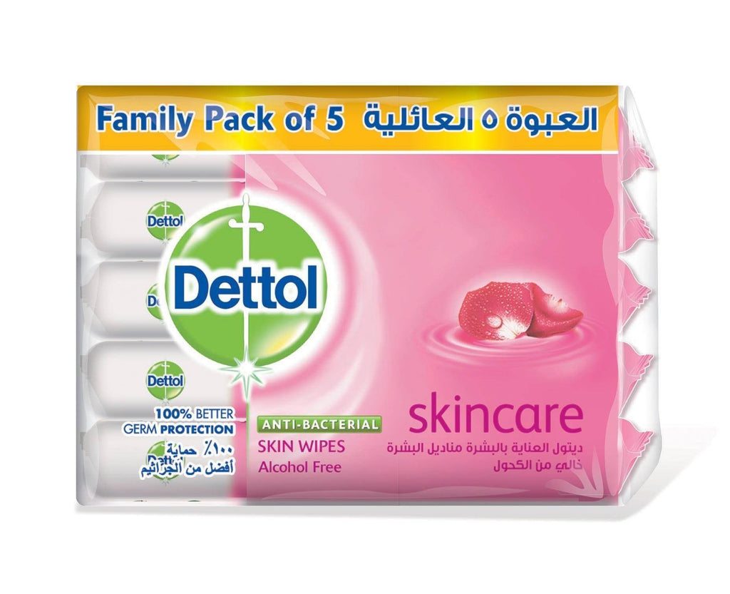 Dettol Skin Wipes 10'S - Economy Pack of 5