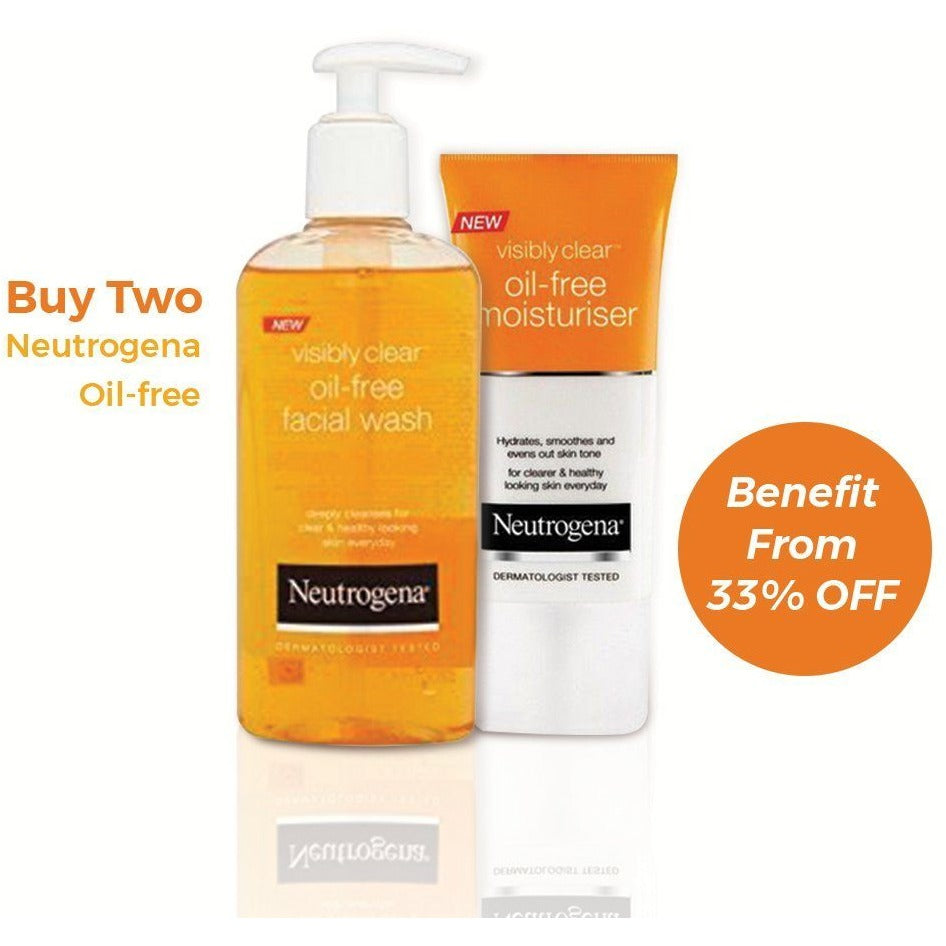 Neutrogena Visibly Clear Oil-Free Acne Wash + Moisturiser - 33% OFF