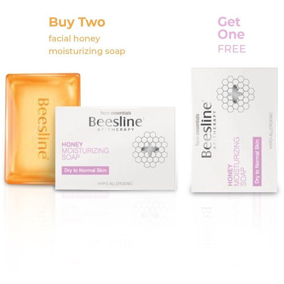 Beesline Facial Honey Moisturizing Soap - BUY 2 GET 1 FREE