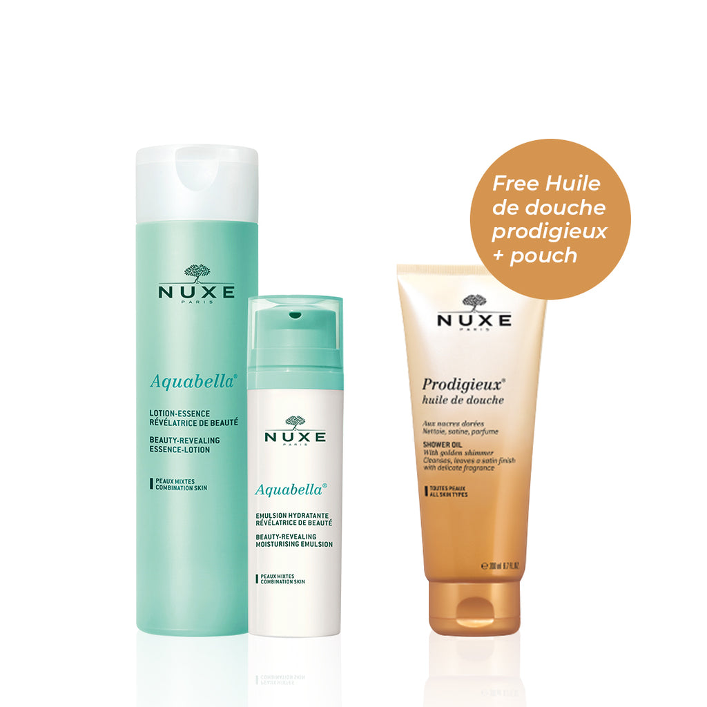 Nuxe Aquabella Set for Combo Skin: Tone & Moisturize + FREE Shower Oil