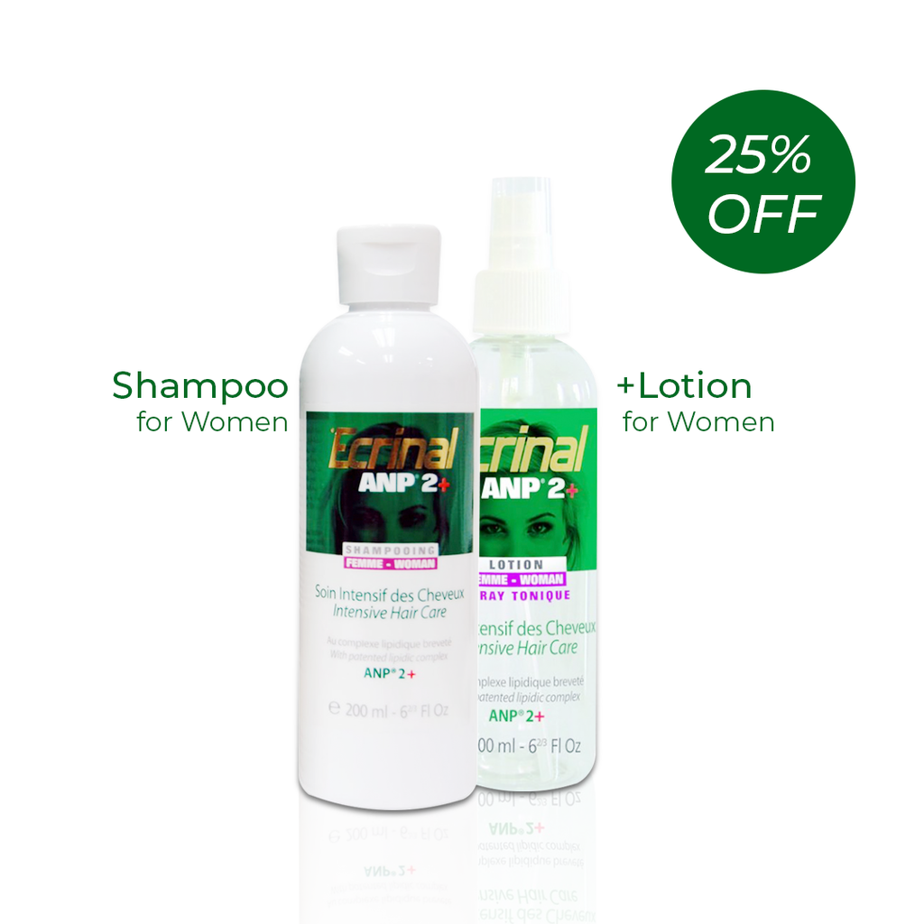Ecrinal Women Set: Intensive Hair Care Tonic Lotion Spray + Shampoo - Get 25% Off