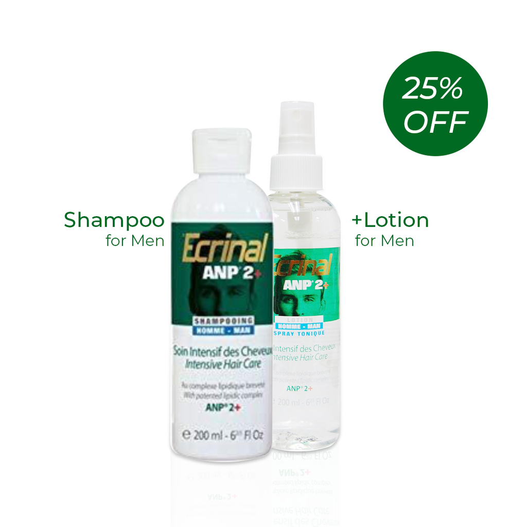 Ecrinal Men Set: Intensive Hair Care Tonic Lotion Spray + Shampoo - Get 25% Off